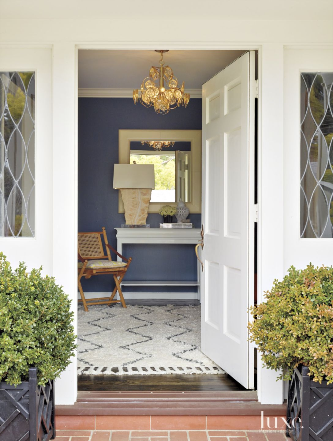 Traditional White Front Door