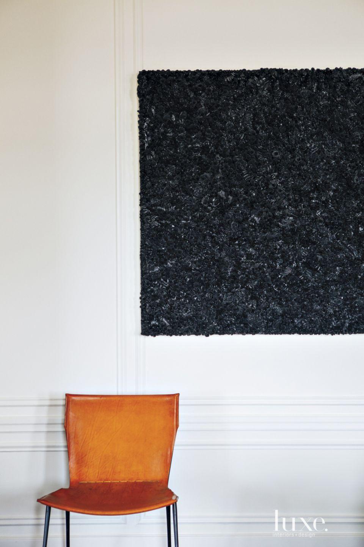 Transitional White Living Room Vignette