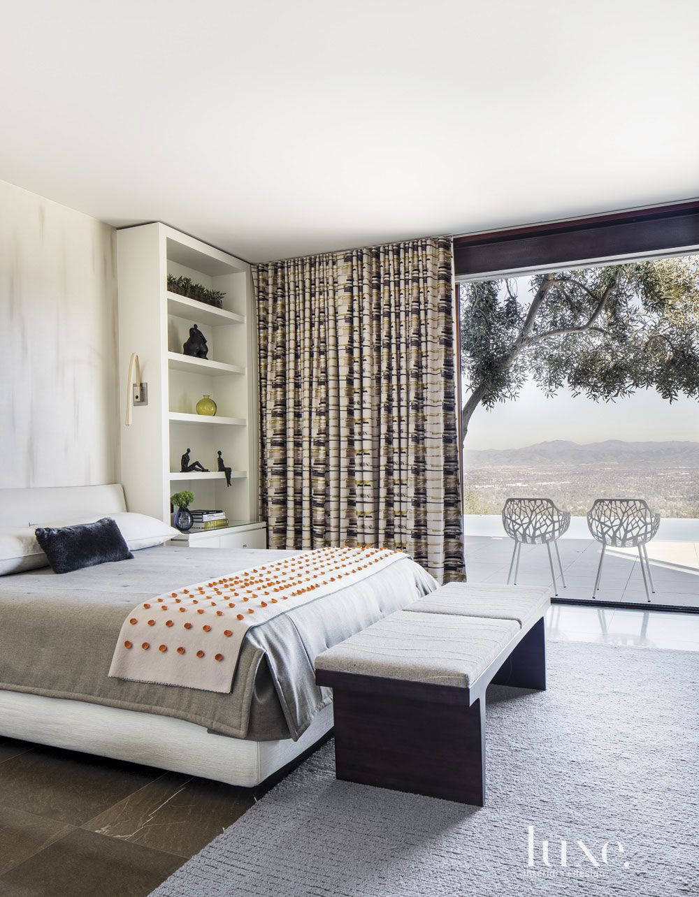 Contemporary White Guest Bedroom