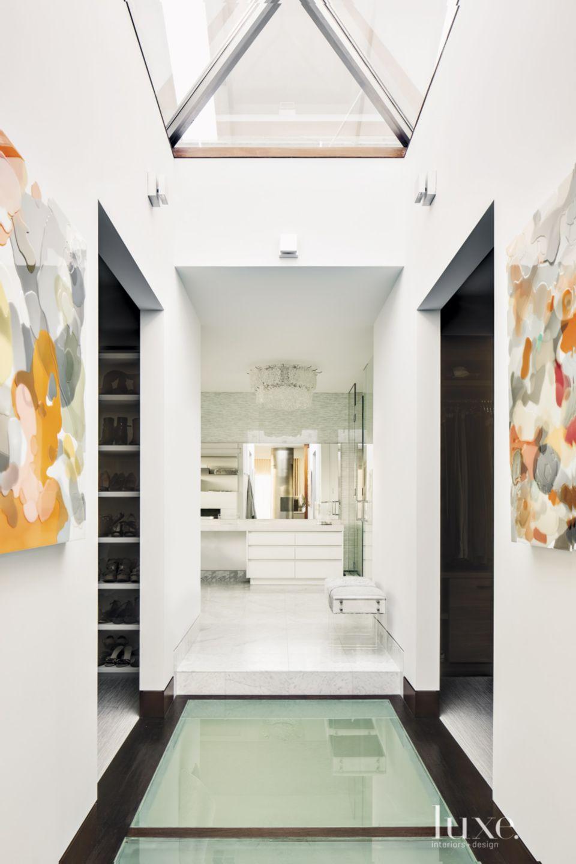Contemporary Master Bath Walkway