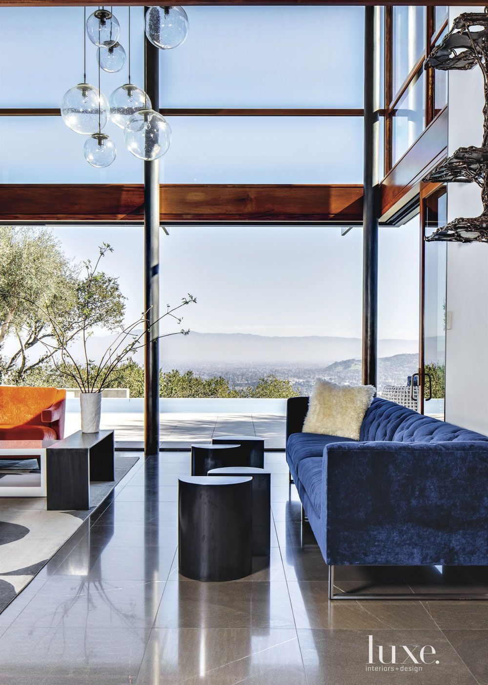 Contemporary Glass Great Room View