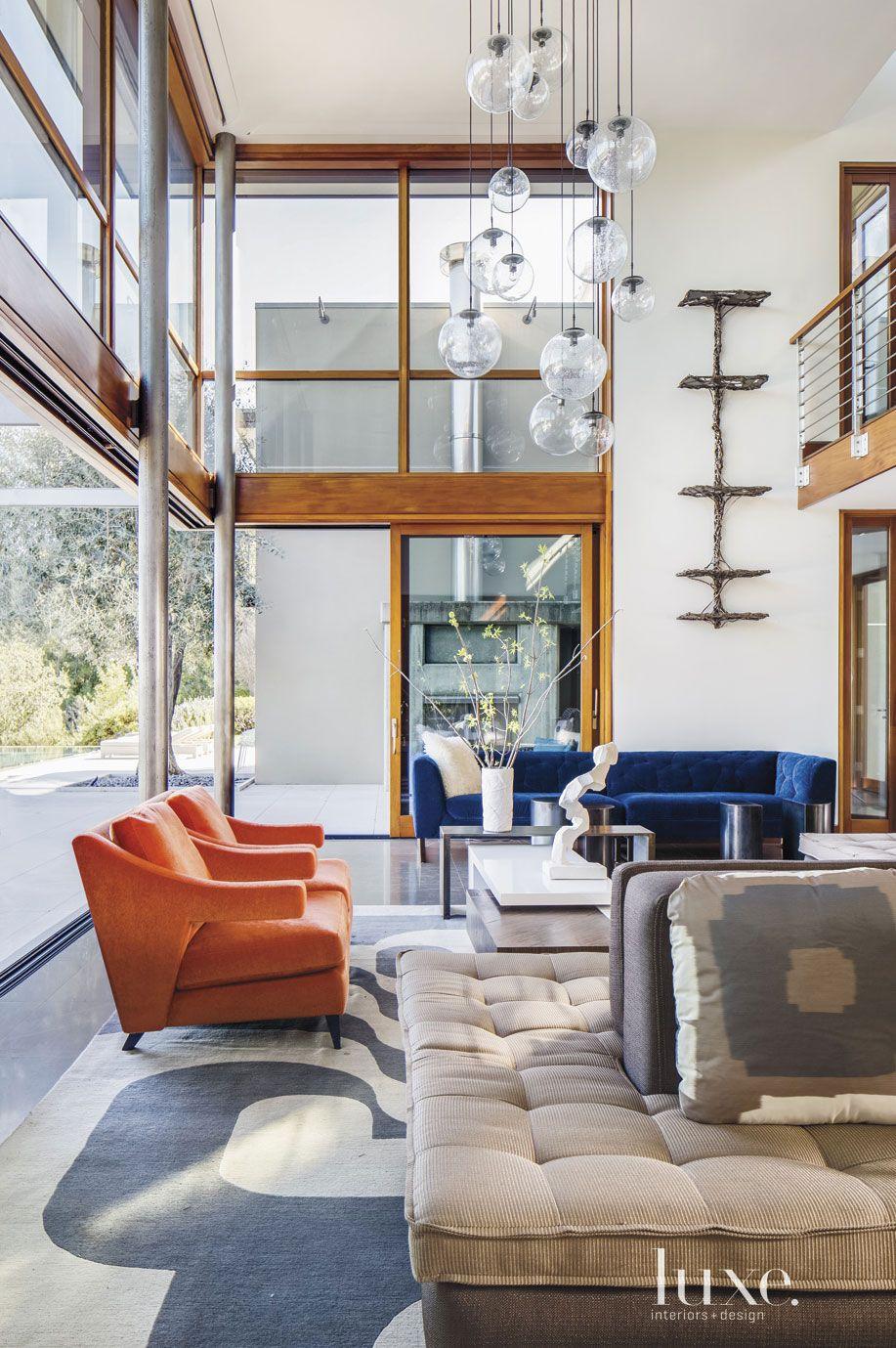 Contemporary Cream Great Room Sofa