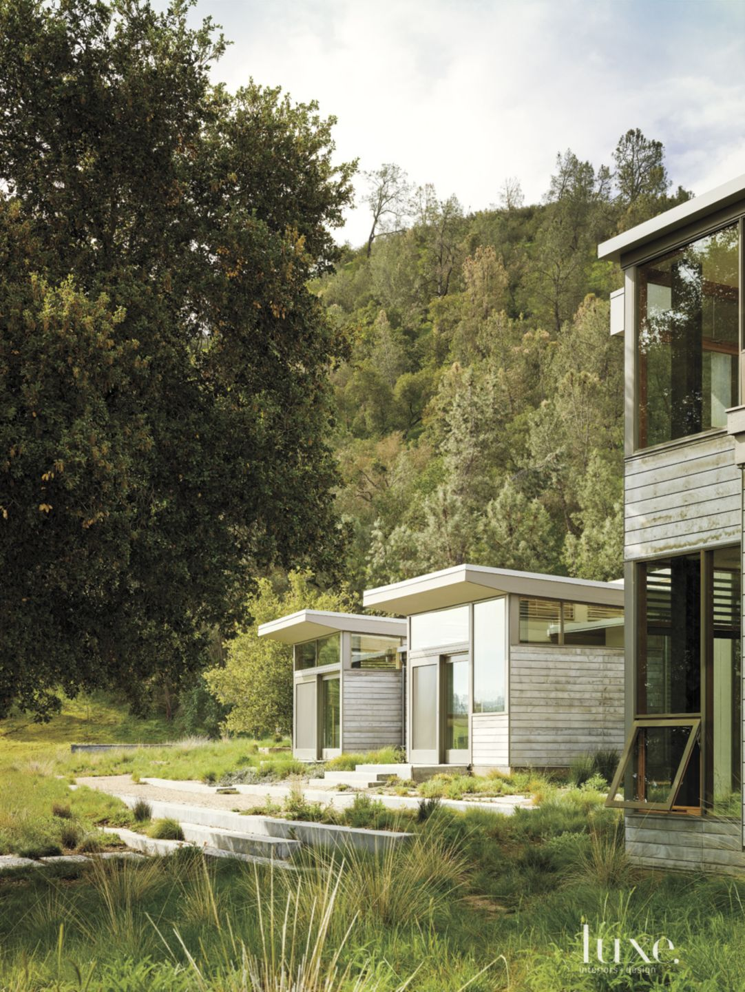 Modern Neutral Exterior with Natural Landscape
