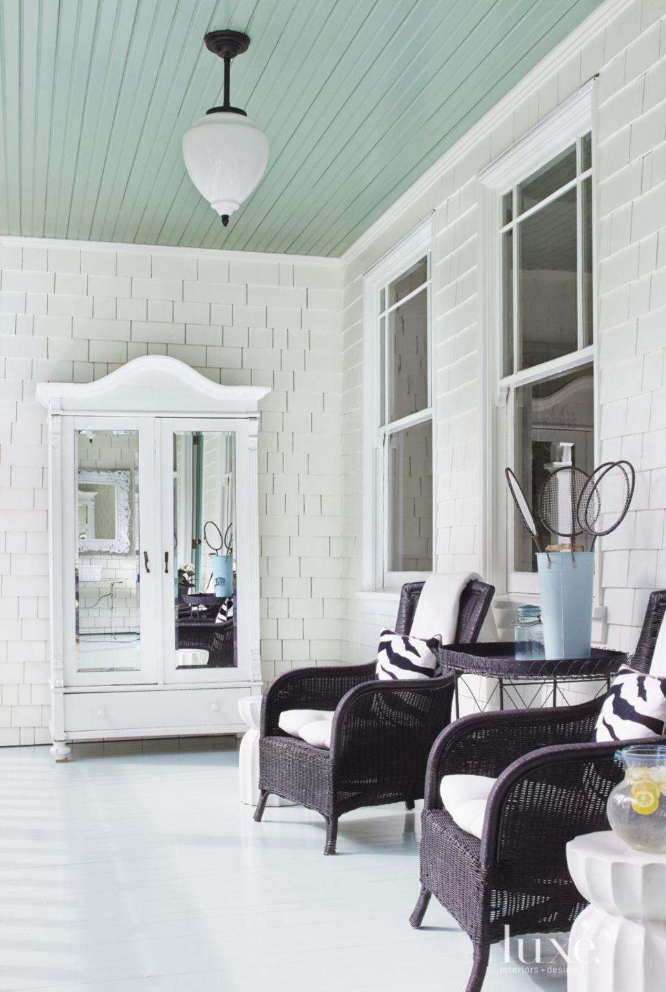 Contemporary Victorian Front Porch Armoire