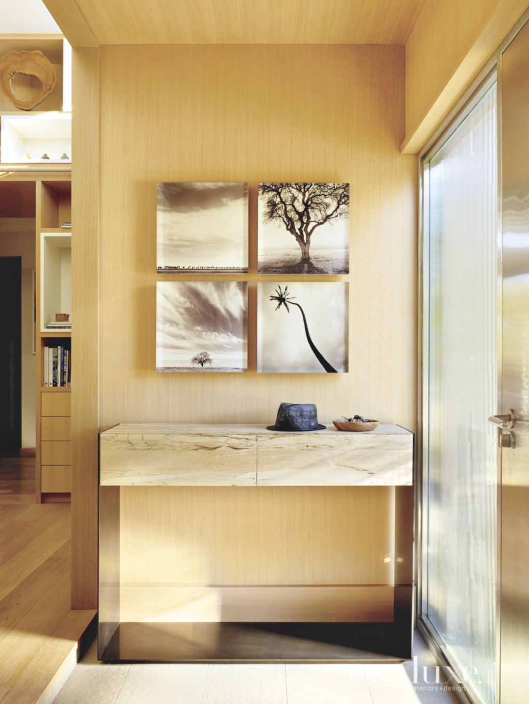 Contemporary Neutral White Oak Foyer