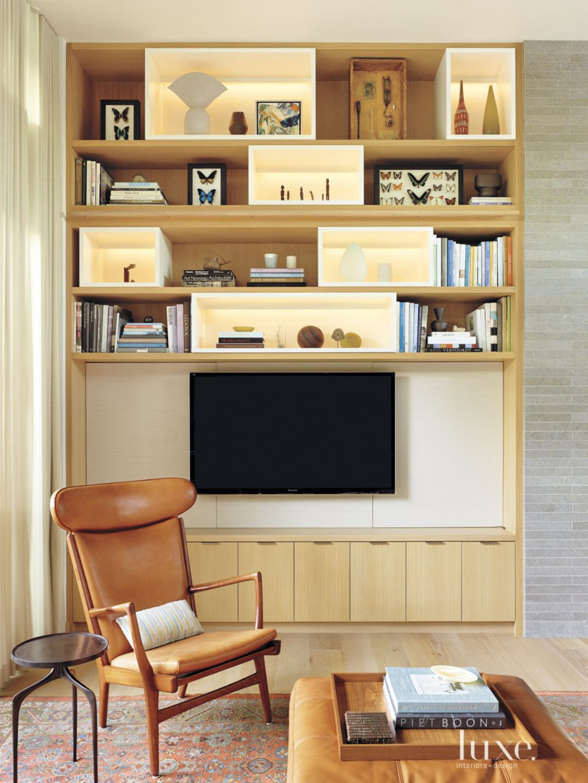 Contemporary Cream Living Room Vignette