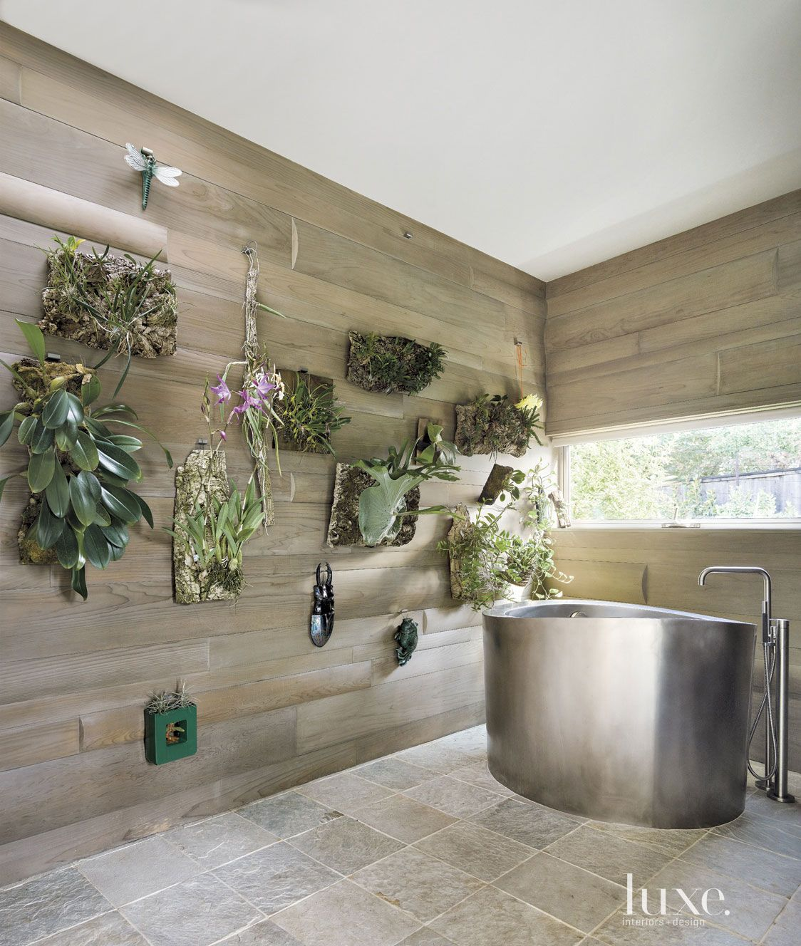 Modern Cedar-Sided Master Bath