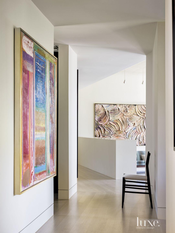 Modern Hallway with White Oak Flooring