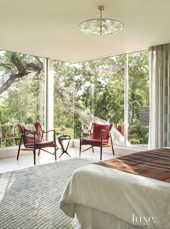 Modern Glassed-in Master Bedroom