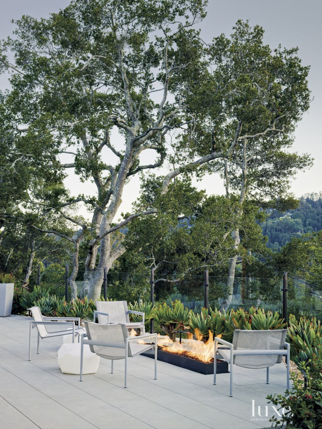 Modern Gray Terrace Sitting Area