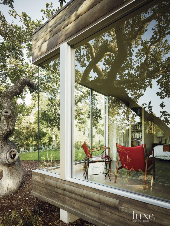 Modern Master Bedroom Glass Exterior