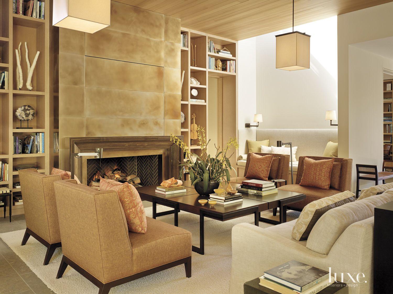 Modern Neutral Living Area Fireplace