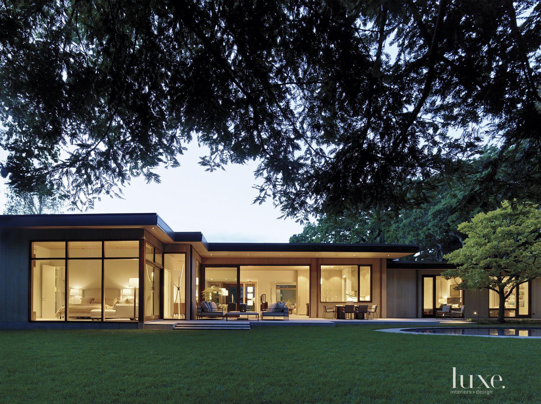 Modern Rear Exterior Landscape