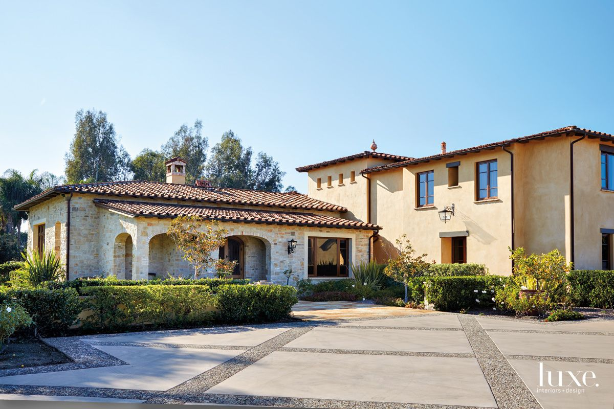 Transitional Neutral Exterior with Spanish Architecture