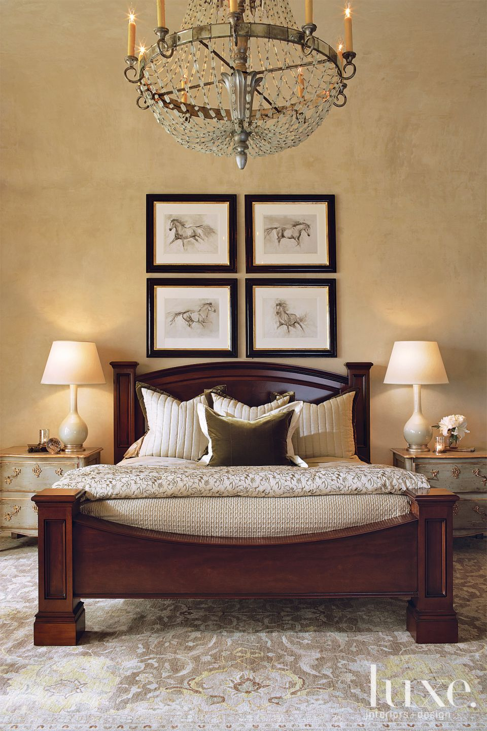 Traditional Neutral Bedroom with Plaster Walls