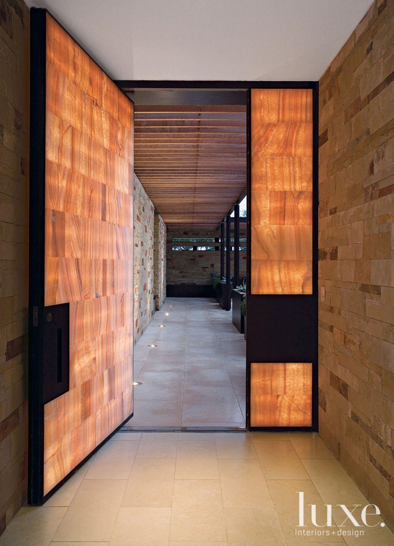 Modern Onyx Tile Front Door