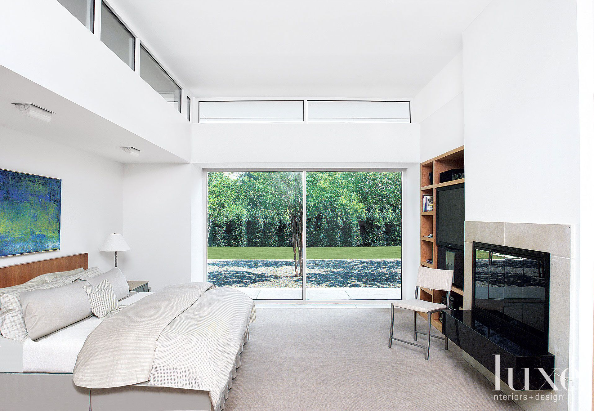 Modern White Minimal Master Bedroom