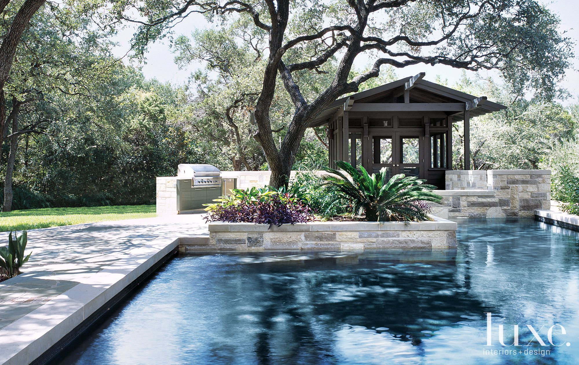Transitional Neutral Pool with Pavillion