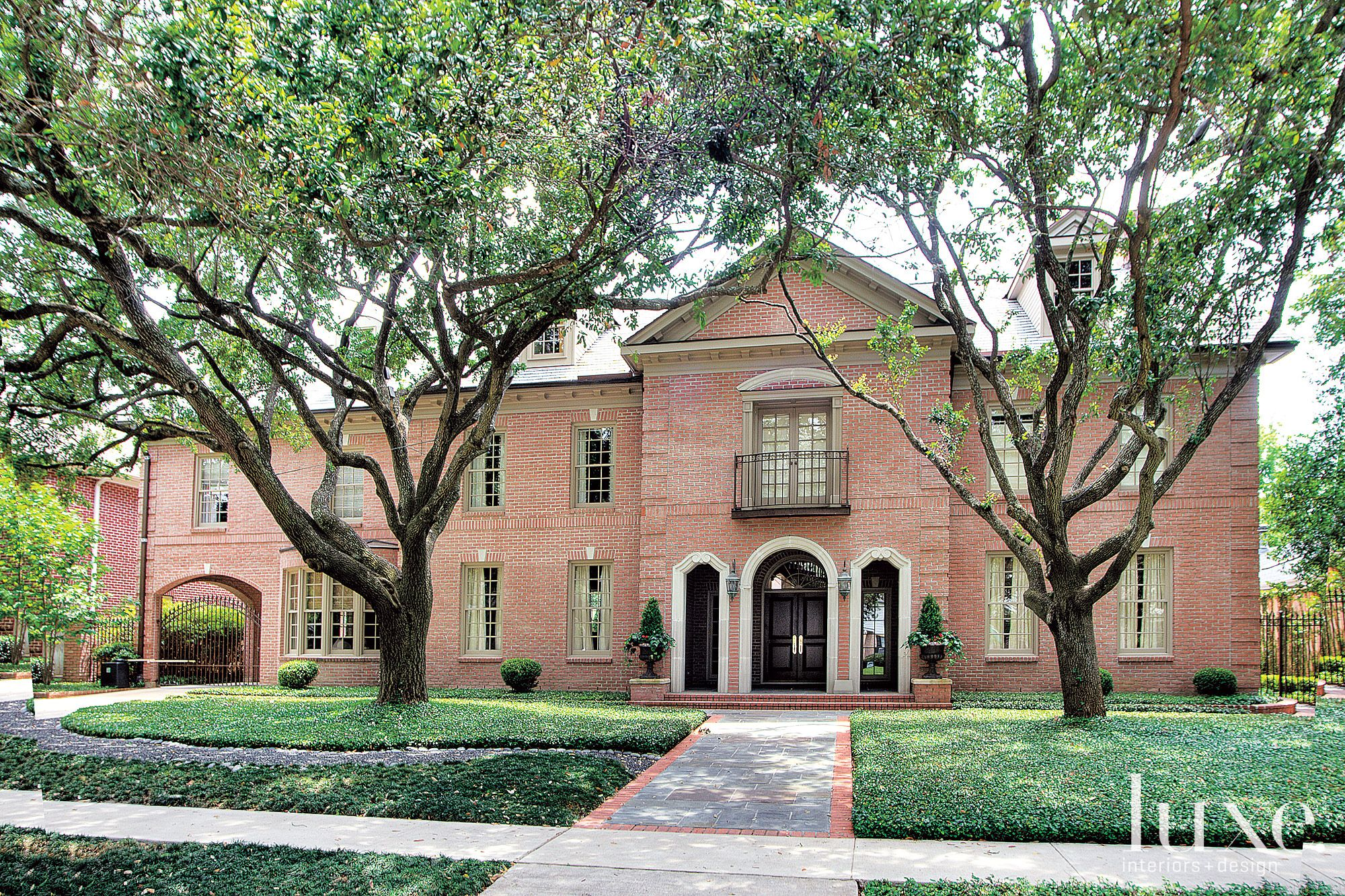 Traditional Brick Front Elevation with Yard