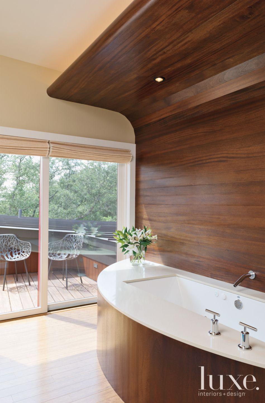 Modern Mahogany Master Bath