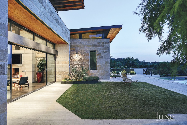 Modern Poolside Loggia