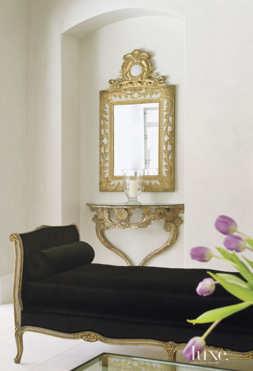 Traditional Cream Family Room Vignette