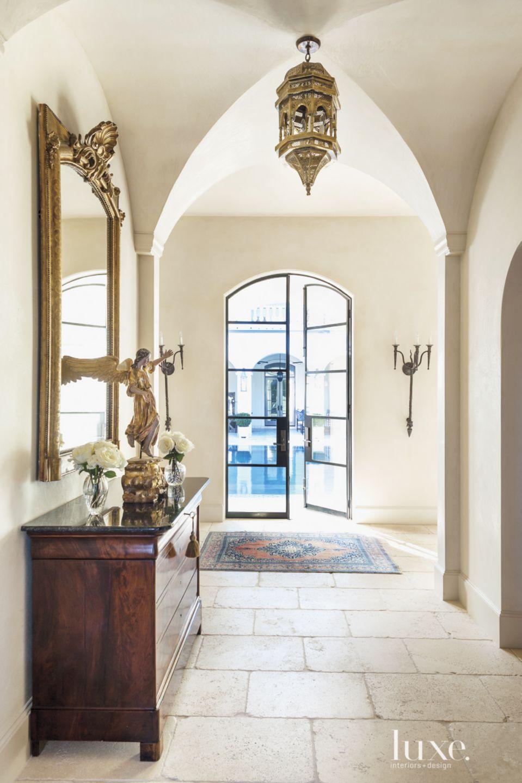 Mediterranean Cream Back Hallway