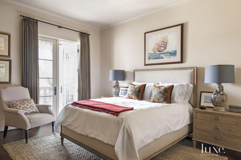 Mediterranean Cream Guest Bedroom