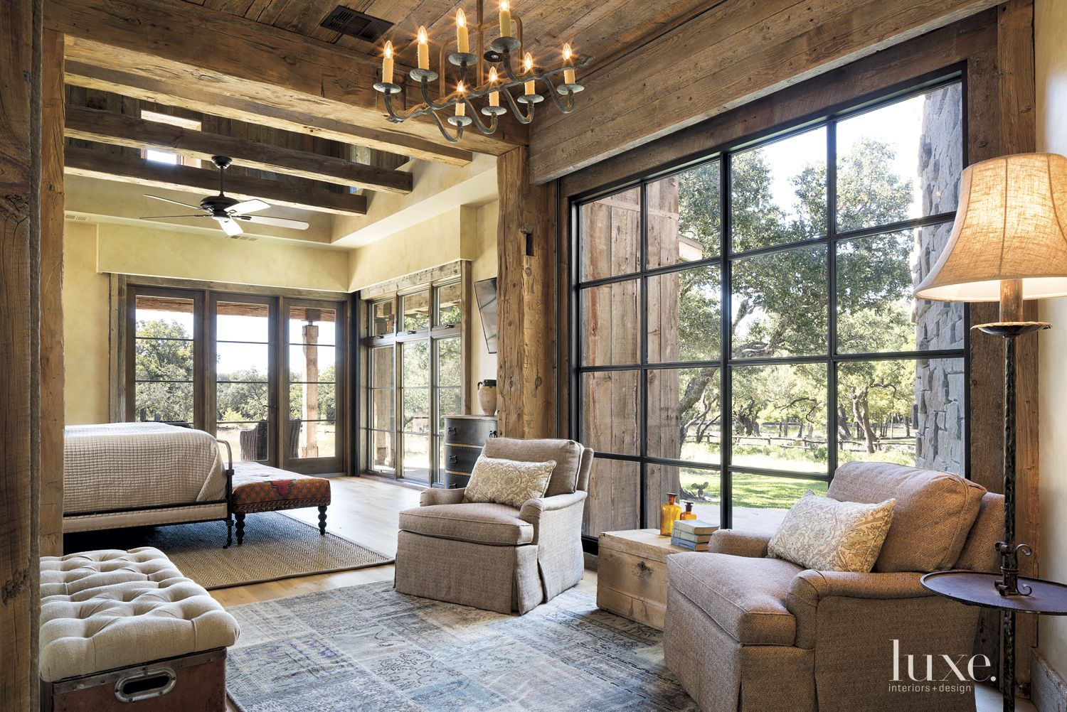 Country Neutral Master Suite Sitting Area