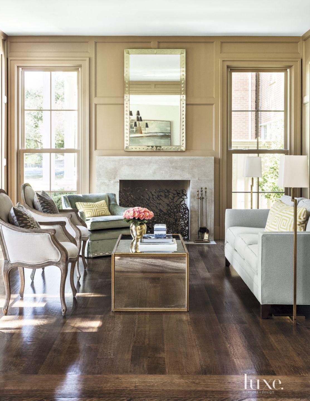 Transitional Tan Living Room