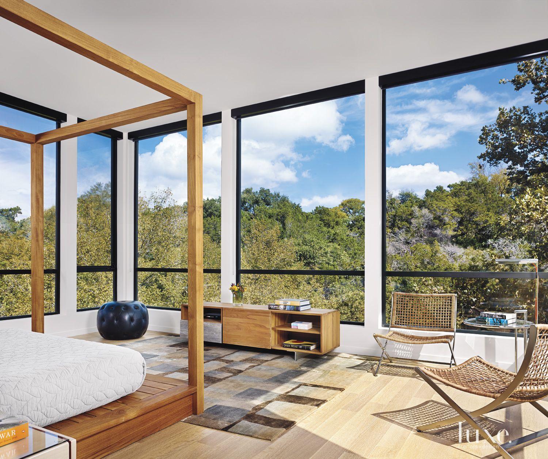 Modern White Minimal Master Bedroom