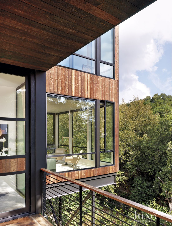 Modern Cedar-Sided Exterior Porch Views