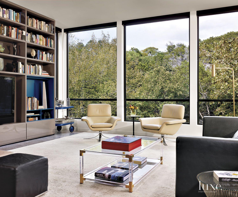 Modern White Living Room Views