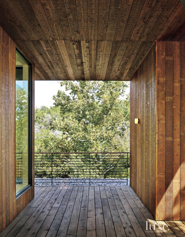 Modern Cedar Front Entry Walkway