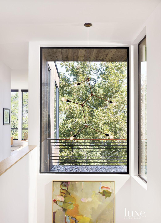 Modern White Stairway Window