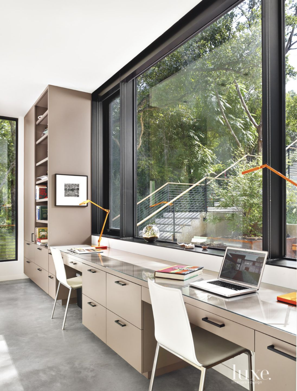 Modern Tan Ground-Floor Office