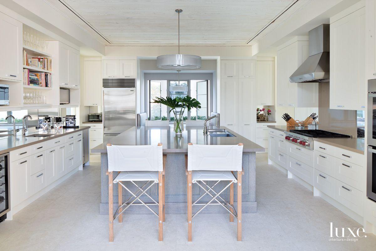 Modern White Kitchen with