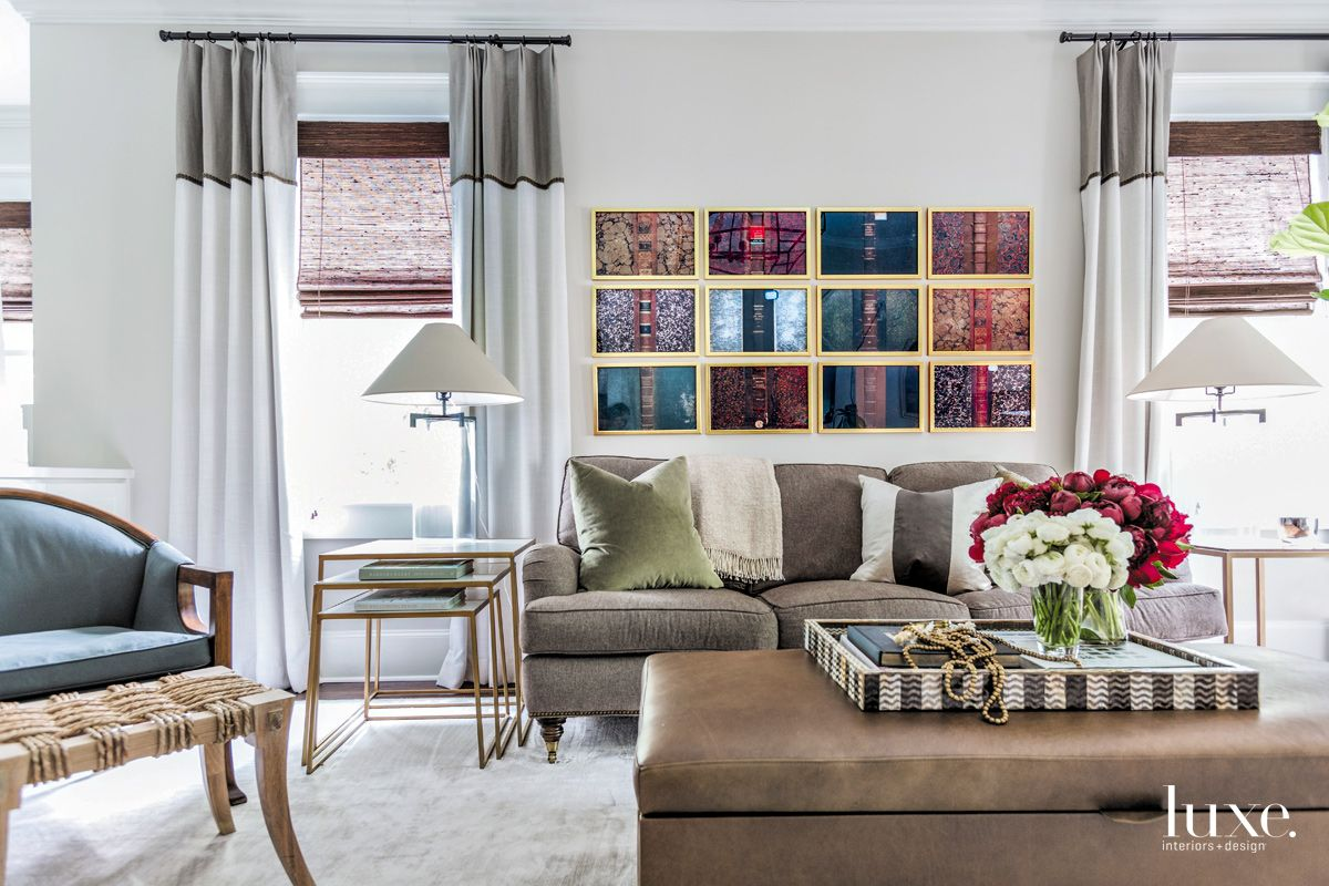 Eclectic White Living Room with Coffee Table Toy Chest