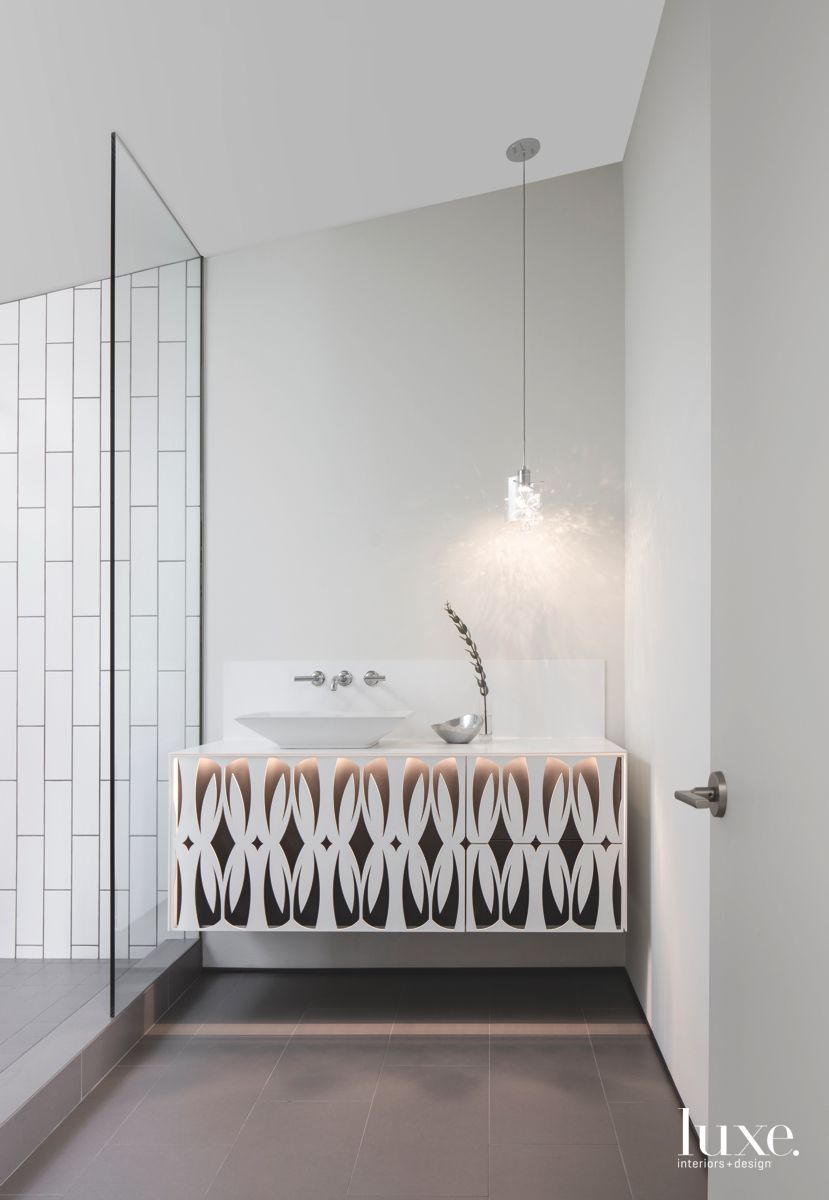 Guest Bathroom Design Pattern Repeat with Quill