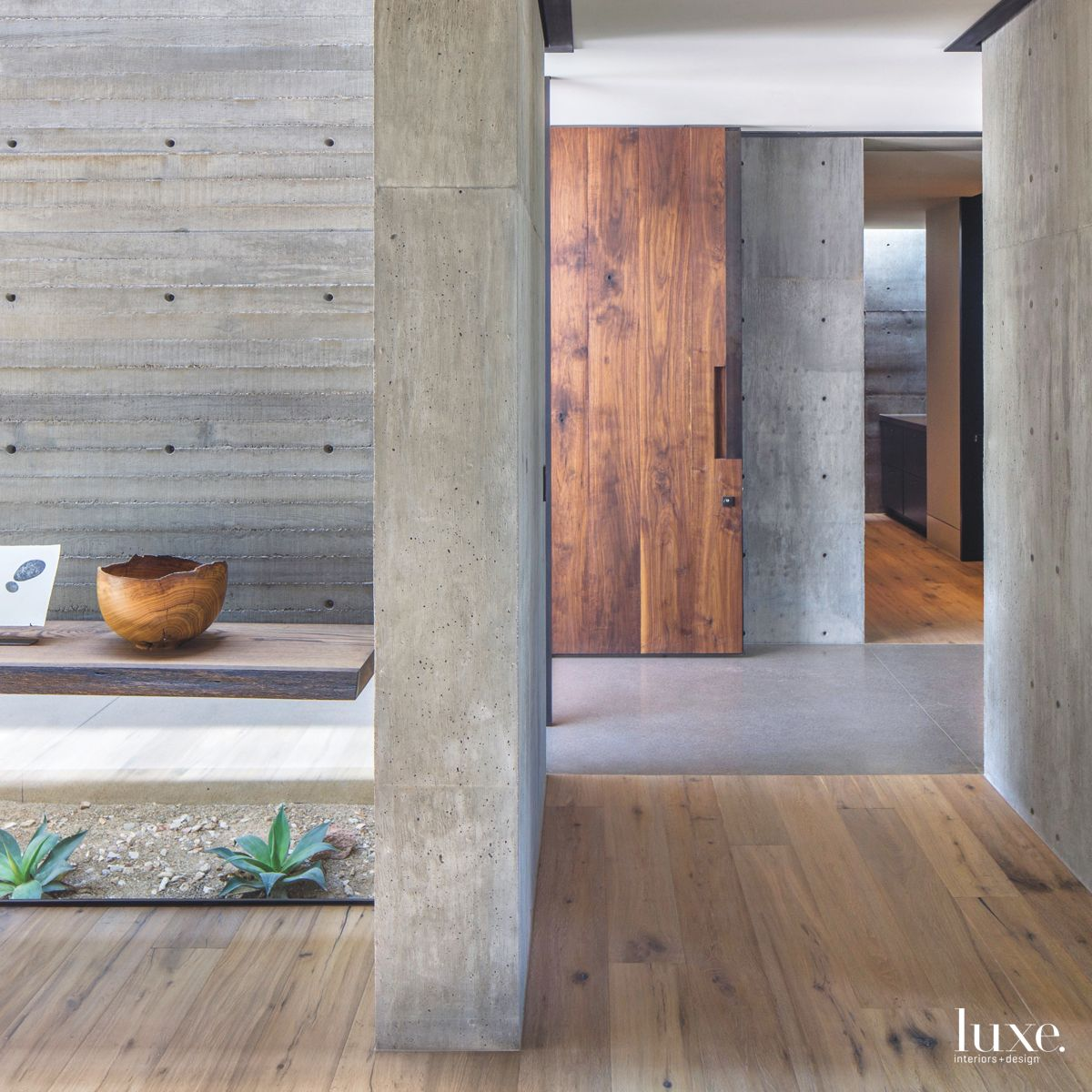 Concrete Connection to Outside from Within