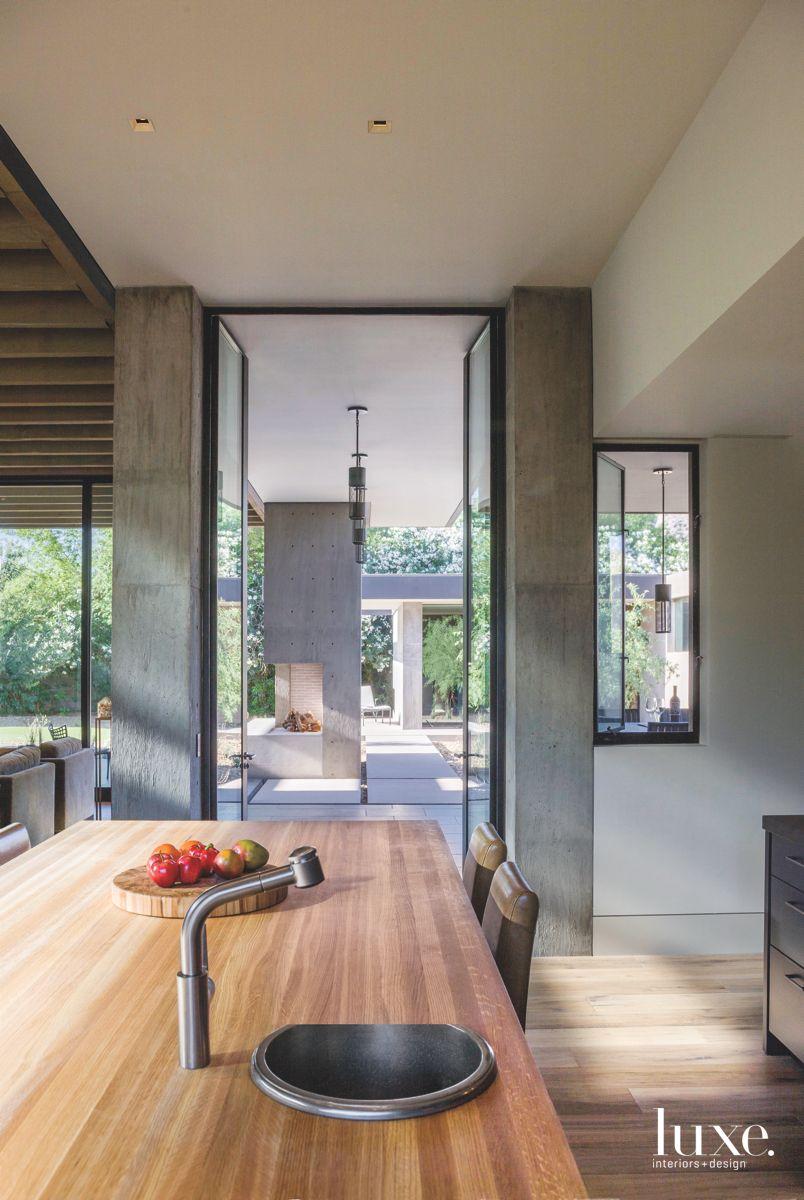 Glazed Doors Open to Outdoor Area