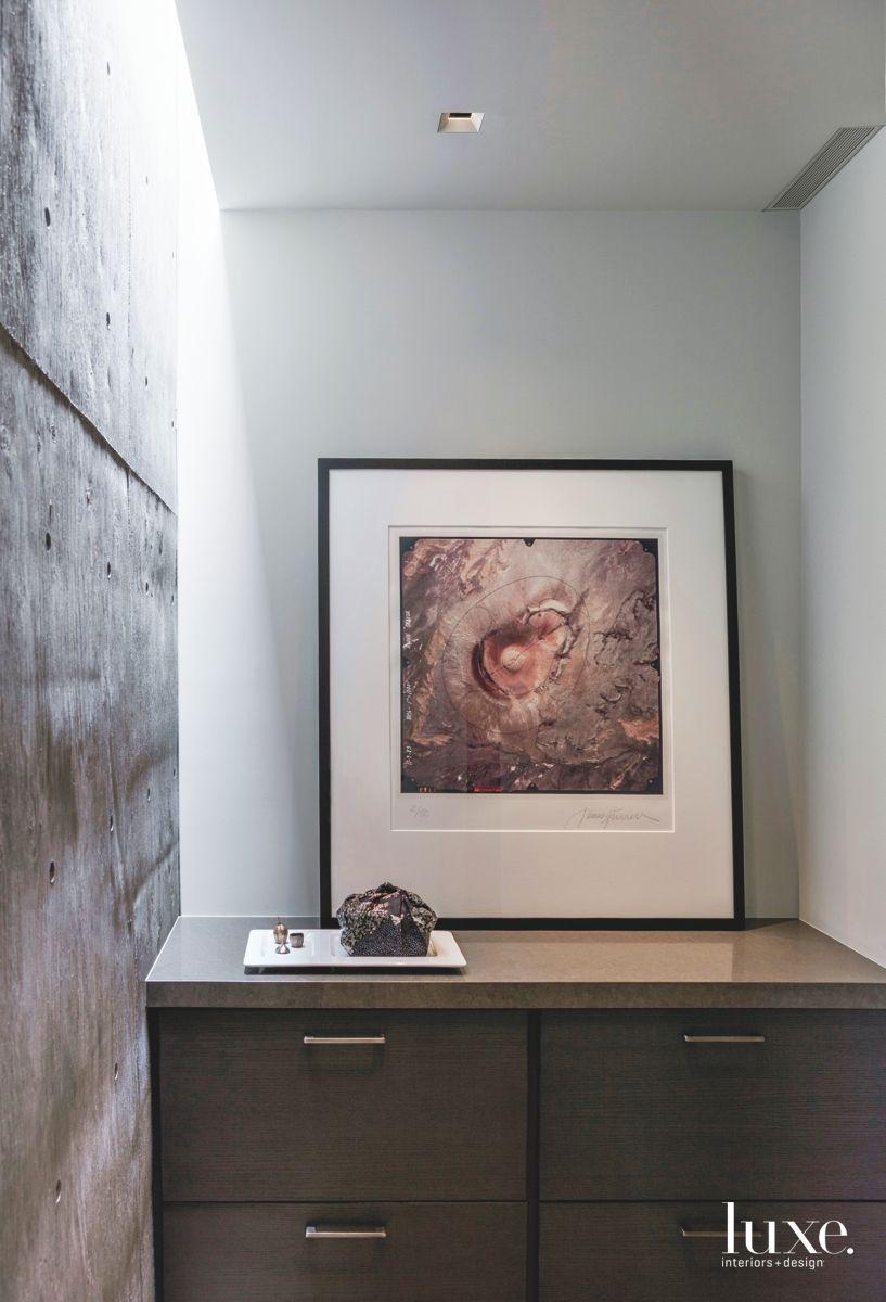 Alcove in Modern Concrete Home
