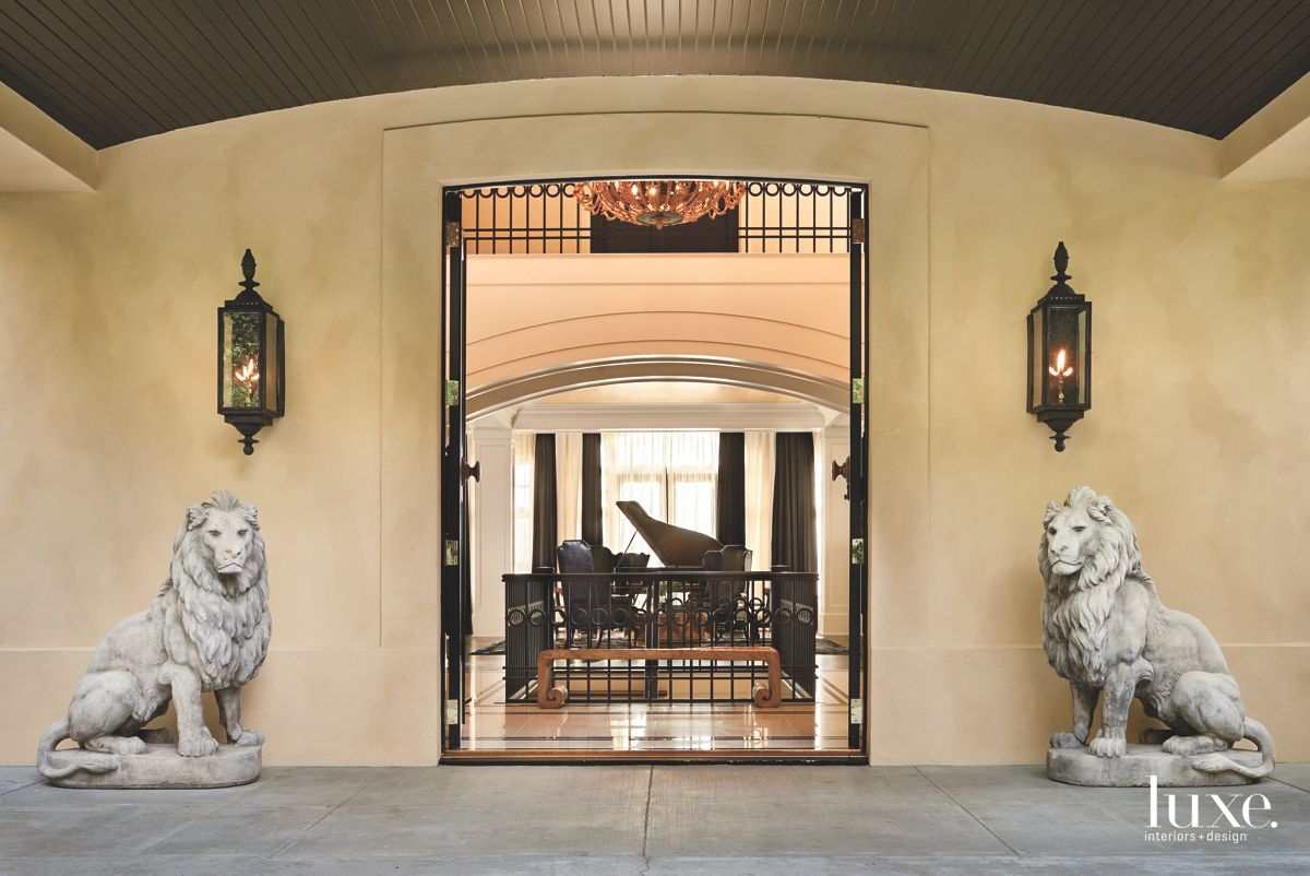 French Lions Guarding the Entrance