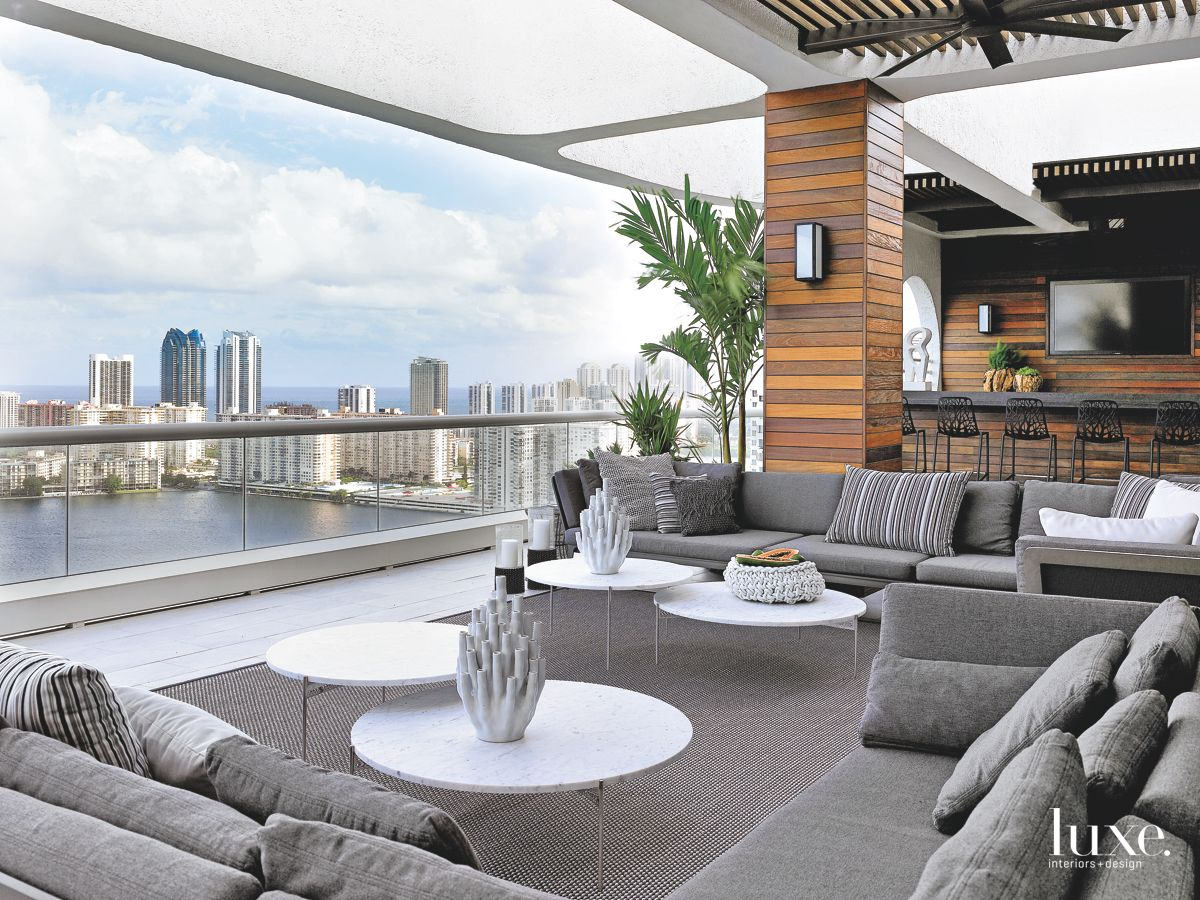 Outdoor Room with Beautiful Miami View