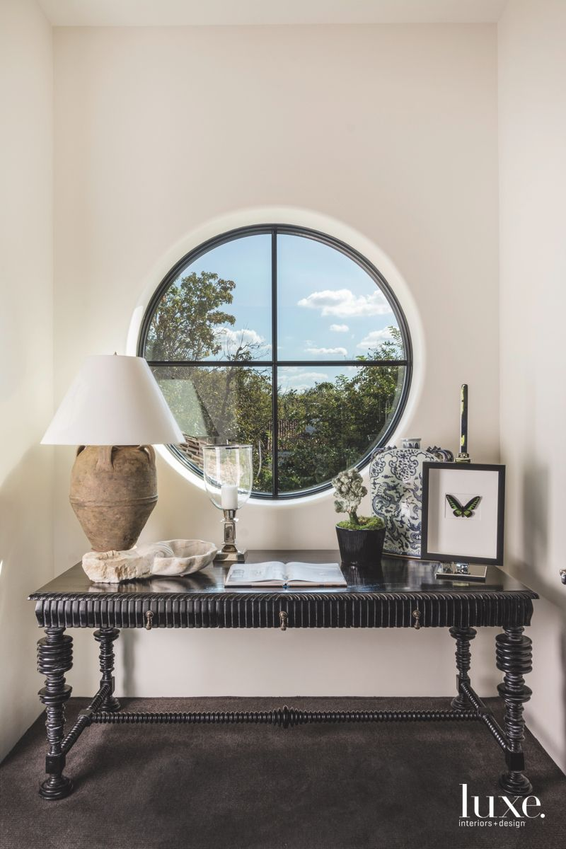 Circular Window Corner with Antiques and Table