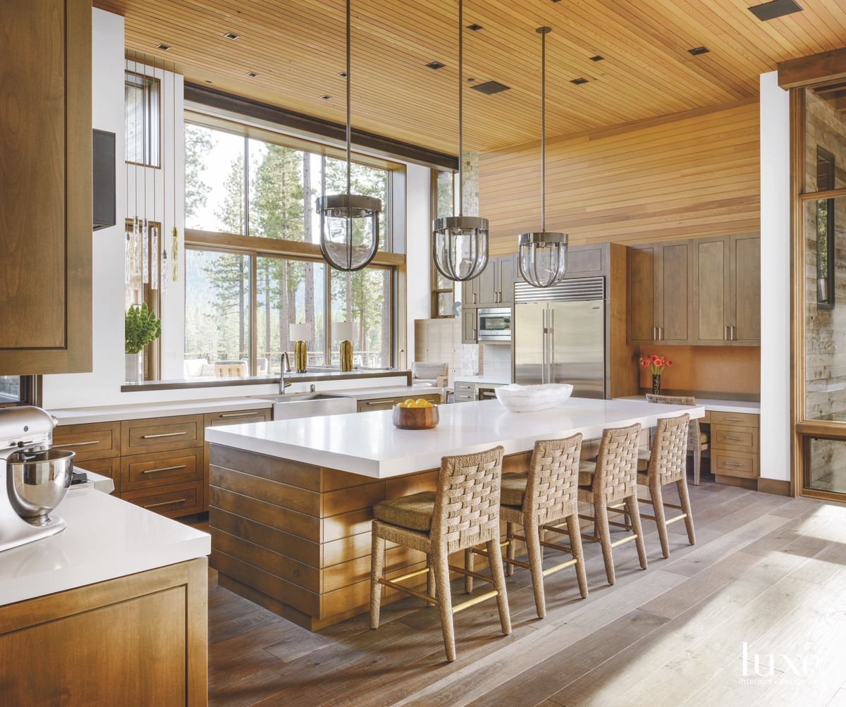 Wooden Kitchen with Custom Cedar Cabinets