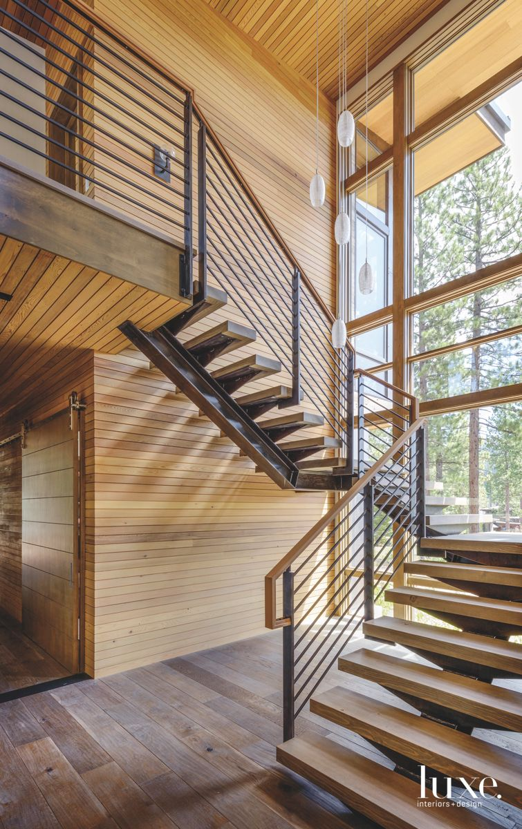 Steel and Wood Modern Spiral Staircase