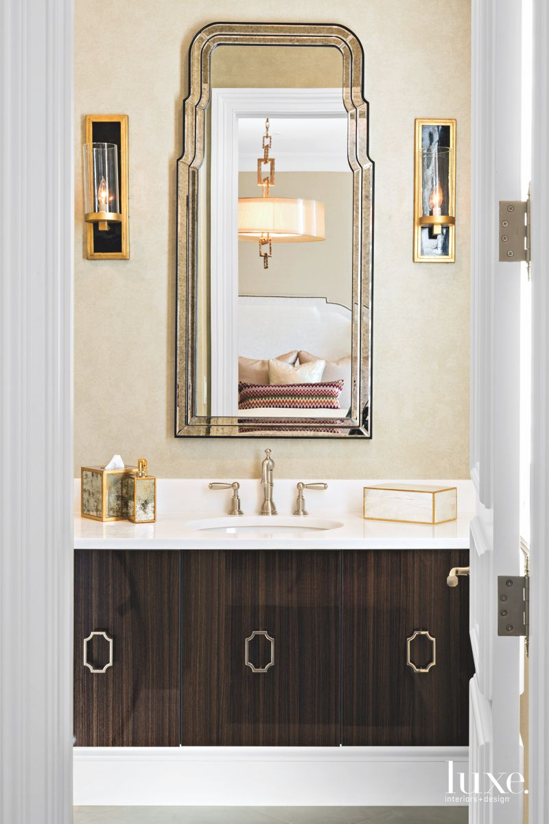 Mirror Bathroom with Side Candle Lights
