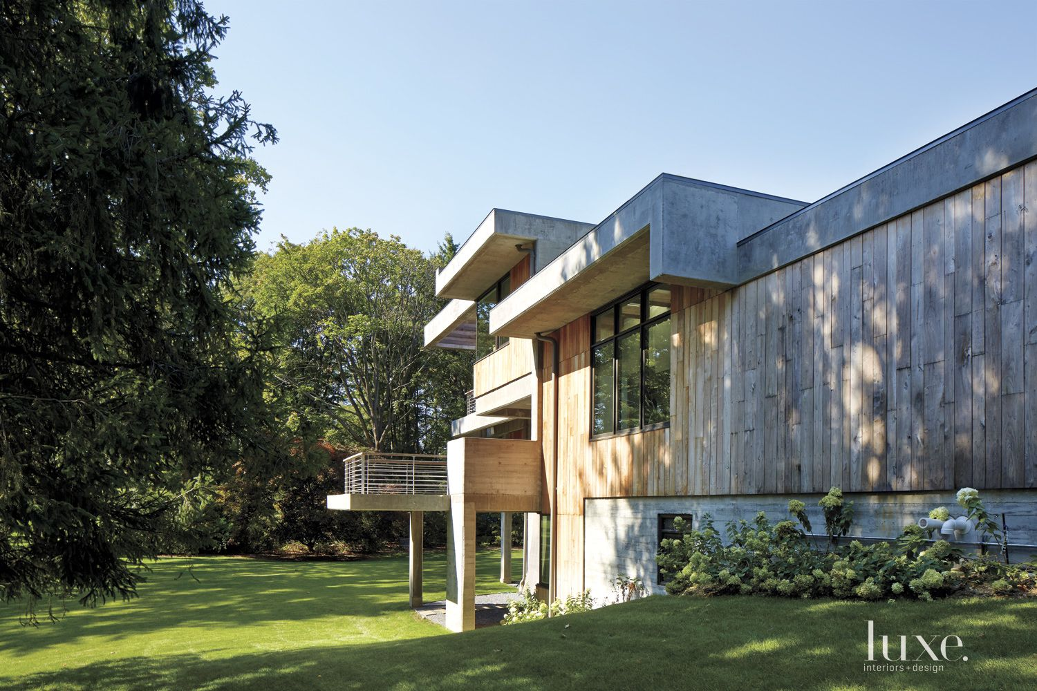 Modern Neutral Exterior with Wood Siding