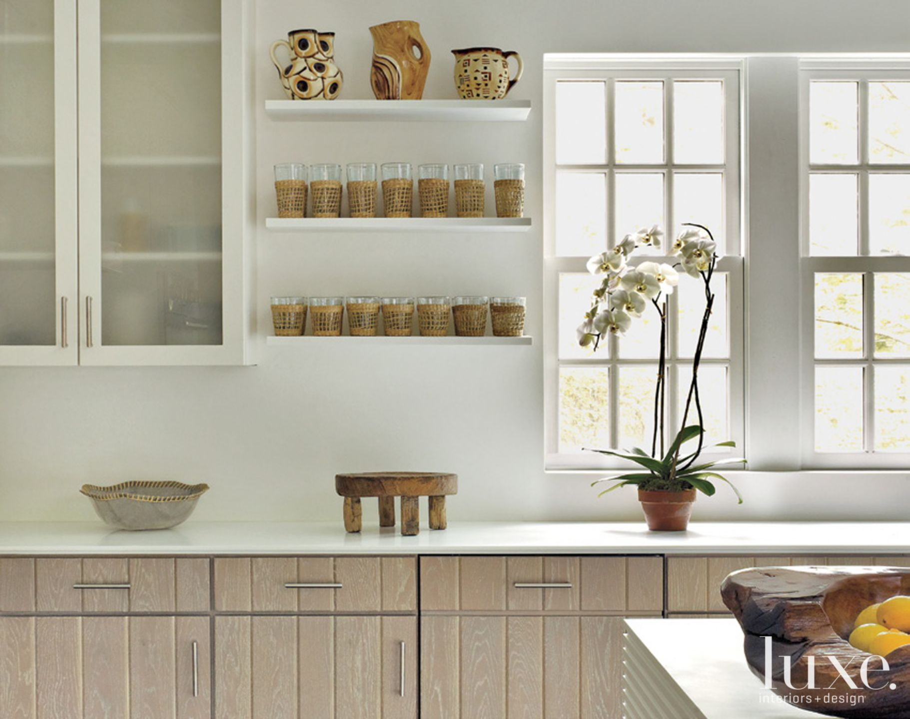 Cabinets in Clean Country Kitchen